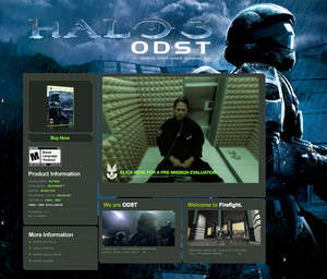 The 'Pre-Mission Evaluation' video on the Halo 3: ODST site contains hidden, Immersive Media 360-degree videos, assessible only to those with secret codes.