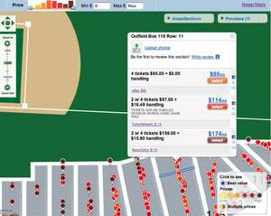 MLB NLDS Philadelphia Phillies at Colorado Rockies -  (Game #3) tickets mapped by row