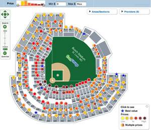 MLB NLDS Los Angeles Dodgers at St Louis Cardinals - Game #3 tickets (October 10, 2009) - Busch Stad