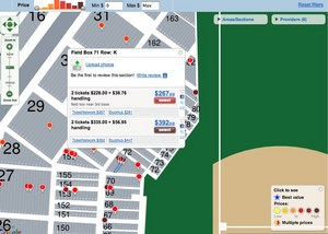Zoomed in Tickets Map_ MLB ALDS_ Los Angeles Angels at Boston Red Sox - Game #3 (October 11, 2009 12