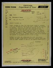 Telegram from Douglas MacArthur II to U.S. Department of State