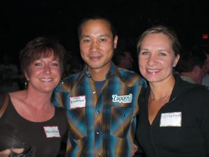 CEO of The Buyer Group, Lisa Buyer, with Tony Hsieh, keynote speaker at PubCon Las Vegas