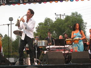 Grammy-nominated percussionist and singer Sheila E. along with Grammy-nominated saxophonist Dave Koz