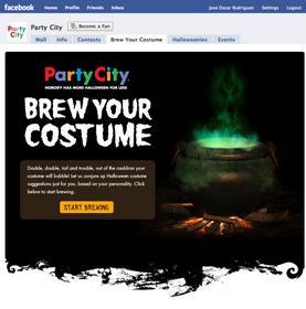 "Party City's ""Brew Your Costume"" Facebook widget"