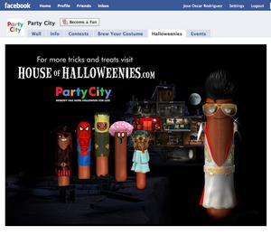 """Party City's """"Halloweenies"""" Facebook widget"""