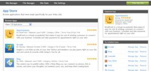 Webs.com App Store