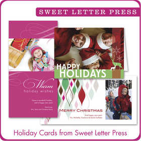 Holiday Cards from Sweet Letter Press