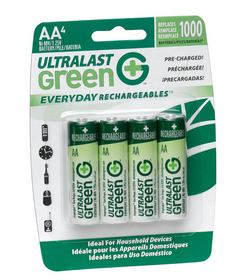 UltraLast Green Everyday Rechargeables batteries