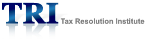 The logo for the Tax Resolution Institute, founded by Peter Stephan, providing tax relief & services