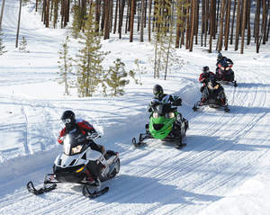 Snowmobiling requires great flexibility and strength to maneuver on the trails, and helps build a strong core as a result.
