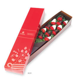 Arranged by the dozen, Edible Arrangements Berry Chocolate Roses are available in semi-sweet chocolate or white chocolate varieties, or a combination of both. Signature Berry Chocolate Roses boxes start at $49.