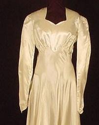 Vintage Satin Wedding Gown to be seen at Las Vegas Bridal Show