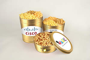 The Big Popper custom popcorn tin