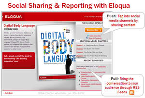 Eloqua Social Media Tools