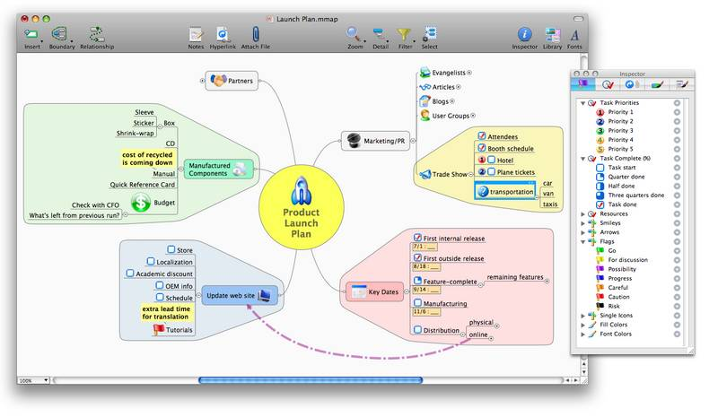 Построение интеллект-карт с помощью mindjet mindmanager. . In mindmanager 7