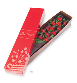 Edible Arrangements Berry Chocolate Roses with dark chocolate