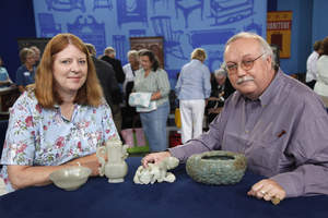 This guest makes ROADSHOW history at ANTIQUES ROADSHOW in Raleigh, NC, with the highest-value appraisal ever captured in the series' thirteen-year history. Her collection of four Chinese carved jade objects from the Quianlong Period (1736-1795) was inherited from her father. Asian arts appraiser James Callahan estimates the value of the collection to be as high as $1,070,000.