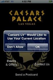 Caesars Palace iPhone Application
