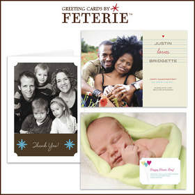 Photo cards from Feterie at Cardstore.com