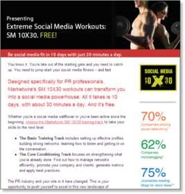 Social Media Fitness Program Invitation