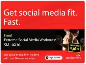 Social Media Fitness Program Ad