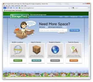 StorageFront self storage facility finder marketing resource