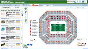 FanSnap Ticket Map of Colts-Saints Super Bowl tickets at Land Shark Stadium
