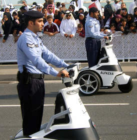 T3 i-Series Electric Stand-up Vehicle Police Vehicle Qatar Al Fazaa National Day Parade
