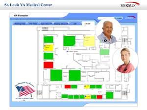 RTLS Patient Flow at VAMC St. Louis (Versus Floorplan View)