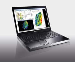 Dell Precision M6500 mobile workstation with NVIDIA Quadro FX 3800M (note: image on Dell Precision M6500 courtesy of Schlumberger)