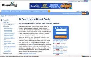 The Cheapflights Beer Lover's Airport Guide helps travels find the best spots for kicking back with a beer at airports across the U.S.