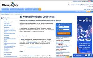 Cheapflights Canada's 'Canadian Chocolate Lovers Guideÿ¿