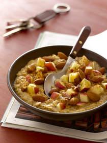 almond recipe, oatmeal, breakfast recipe, snack recipe, apple, apples recipe