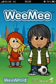 iPhone WeeMee Avatar Creator with rock and roll assets