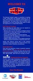 Super Bowl XLIV Fan Code of Conduct Card