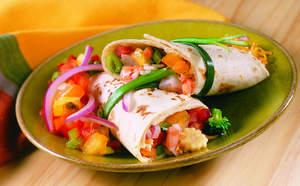 Shrimp Stir-Fry Wrap