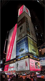 Walgreen's Share a Kiss in Times Square Billboard