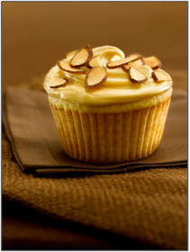 Almond Cupcakes with Dulce de Leche Frosting