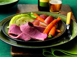 Corned Beef with Red Currant-Mustard Sauce