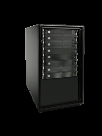 Overland Storage SnapServer SAN S2000 rackmounted with seven E2000 expansion units