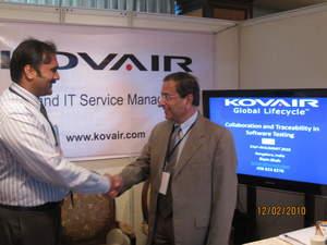 Kovair CEO Bipin Shah and Vedasoft CEO Vijay Palluru