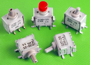 NKK Switches' G3T Series and G3B Series of ultra-miniature, process sealed, surface mount toggle and pushbutton switches feature a compact design and light weight, making them ideal for handheld equipment as well as high-density mounting.