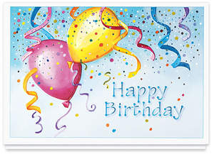 Design #173AE - Birthday Celebration Greeting Card
