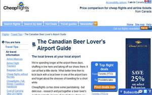 Cheapflights, Canadian, Beer Lover's Guide