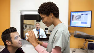 Cisco HealthPresence telemedicine technology - using diagnostic medical equipment to share real-time health information with remote medical staff.