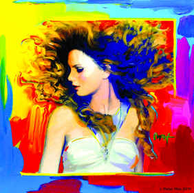 Portrait of Taylor Swift's album cover, Fearless by American Icon and Artist Peter Max