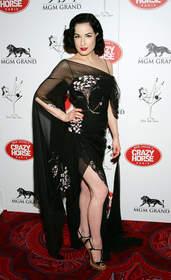 Burlesque Artist Dita Von Teese at MGM Grand's Crazy Horse Paris