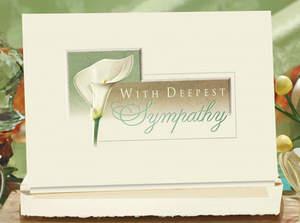 Design #087AY, Lily Sympathy Card