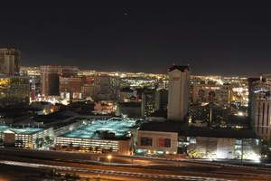 The view of the center of the Las Vegas Strip during Earth Hour 2009.