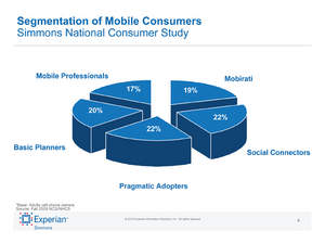Description of Experian Simmons Mobile Segmentation system